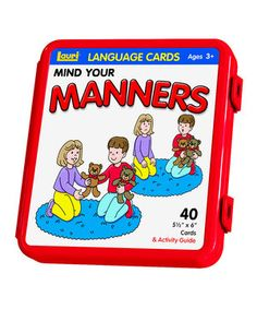 Look at this #zulilyfind! Patch Products Manners Flashcard Set by Smethport #zulilyfinds