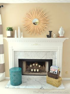 simple mantel decor | mantel decorating: simple & classic
