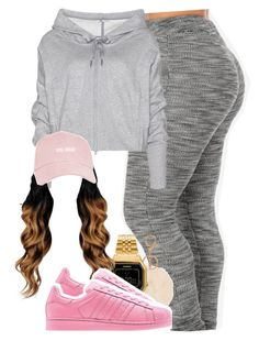 """""""822"""" by tuhlayjuh ❤ liked on Polyvore featuring adidas, Casio, women's clothing, women's fashion, women, female, woman, misses and juniors"""