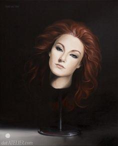 """""""Spare Head"""" oil on canvas."""