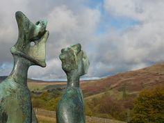 The King and Queen by Henry Moore - sculpture seen on the Glenkiln Sculpture Walk, Dumfries & Galloway, Scotland