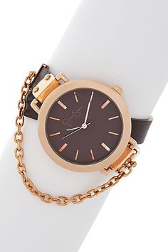 Jessica Simpson | Large Round Case Leather Wrap Watch | Nordstrom Rack -- $42