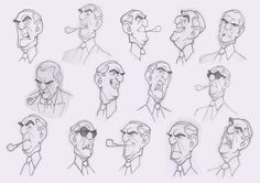 Capoferro's Expressions - character design by Borja Montoro