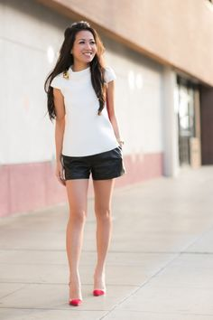 Black and white casual.