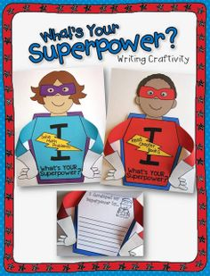 Got superpowers? This writing craft can be used two ways:  it includes pages for back to school goal setting as well as end of year reflections and accomplishments. Makes a SUPER cute open house display, too!