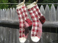 Cape gingham socks, free pattern!