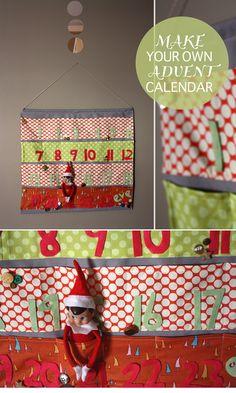 tis the season. pretty cute! DIY advent calendar
