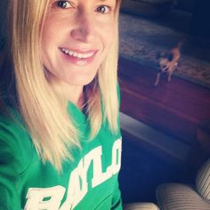 Angela Kinsey repping #Baylor from California during #BaylorHomecoming 2014! #SicEm