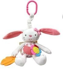 New Arrival Baby Toy Soft Rabbit Plush Doll Baby Rattle Ring Bell Crib Bed Hanging Animal Toy Teether Multifunction Kids Toy Baby Boy Toys, Toddler Toys, Kids Toys, Baby Cribs, Baby Car, Rabbit Baby, Rabbit Toys, Pink Rabbit, Pram Toys