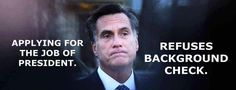 Romney background check