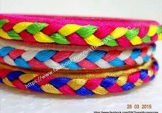 Silk bangles Silk Thread Bangles Design, Silk Bangles, Thread Jewellery, Fabric Jewelry, Diy Jewelry, Indian Bangles, Handmade Jewelry, Jewelry Making, Jewellery Designs