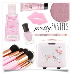 """""""Pretty Pastels"""" by tina-pieterse ❤ liked on Polyvore featuring beauty, Ted Baker, Topshop, Deborah Lippmann, Yves Saint Laurent and pastels"""