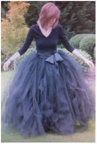 DIY tulle skirt. Here's an idea: buy a short dress in your preferred color, but make sure it isn't fluffy. Then make a skirt similar to this in the same color as your base dress, and there is your two-in-one dress. Like a boss.