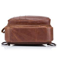 bcf1f0bf89f4 Bullcaptain Genuine Leather Large Size Chest Bag Sling Bag Single-shoulder Crossbody  Bag For Men is hot-sale