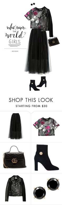 """""""Girl Power Look"""" by orrinn ❤ liked on Polyvore featuring Dorothee Schumacher, Gucci, Dolce&Gabbana, Yves Saint Laurent, girlpower and powerlook"""