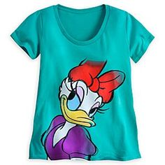 Disney Daisy Duck Tee for Women | Disney StoreDaisy Duck Tee for Women - Just like Donald, you'll go crazy over Daisy as she poses for a close-up portrait on this soft and stylish scoop neck cotton tee.