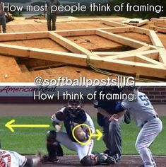 Softball I think of both though, growing up in the construction business and being a catcher Softball Players, Girls Softball, Fastpitch Softball, Baseball Mom, Softball Stuff, Softball Things, Softball Hair, Girls Basketball, Softball Catcher Quotes