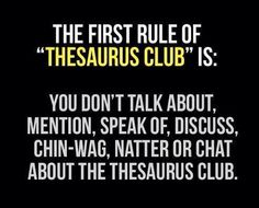 Thesaurus club -geek...