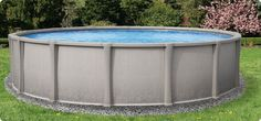 "The all new Nakoma 54"" resin above ground swimming pool. Only at http://www.abovegroundpoolbuilder.com/"