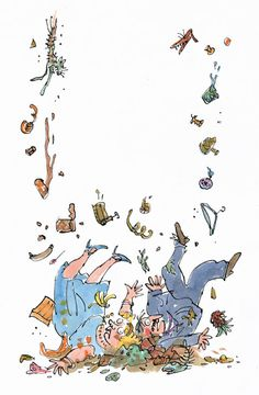 Charlie and the chocolate factory Quentin Blake Illustrations, Howls Moving Castle, Hair Raising, Chocolate Factory, Roald Dahl, Bullet Journal Inspiration, Conte, Drawing For Kids, Childrens Books