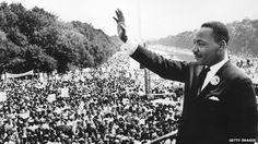 Martin Luther King - I have a dream speech at the Lincoln Memorial Washington on 28 August 1963.  Photo: Internet