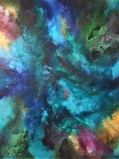 opera astratta su tela di grandi dimensioni.dipinta con colori acrilici e sabbie di ExcellentArtWork su Etsy