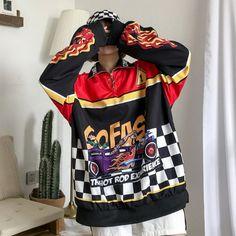 Women Hoodies Autumn Winter Harajuku Sweatshirts Cartoon Patchwork Let – geekbuyig Harajuku Fashion, Sweatshirts, Hoodies, Cute Woman, Sweater Jacket, Girl Outfits, Fresh Outfits, Autumn Fashion, Cartoons