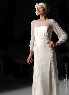 Vestido de novia inspiración años 20 · Pronovias 2014 | Diario de Bodas #weddingdresses #bride #spain