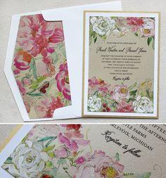 bright-floral-wedding-stationery #momentaldesigns #watercolorweddinginvitations