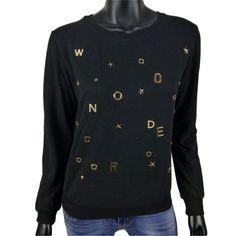 Sweater met gouden letters in zwart  10-  Online: www.dannyschoice.nl  En in de winkel: #Beverwijk   #fashion