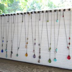 Long necklace display board
