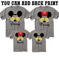 Disney Family Shirts Disney Shirts Mickey and Minnie Head Custom Disney Trip Shirt I Cruise How to order the size and add personalization if needed Add to cart Go back and Repeat for each size(to create a set ) T Shirt Qu Disney Family, Disney Shirts For Family, Family Vacation Shirts, Family Tees, Family Vacations, Disney Sweatshirts, Disney Vacations, Disney Trips, Disney Shopping