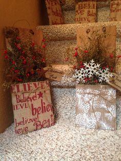 Christmas pockets #Christmas #handmade #paprimitives
