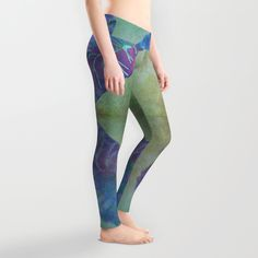 Tropical pond Leggings by Okopipi Design | Society6