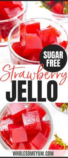 Keto Jello Recipe, Jello Recipes, Low Carb Sweets, Low Carb Desserts, Paleo Dessert, Dessert Recipes, Dessert Salads, Keto Pudding, Sugar Free Jello