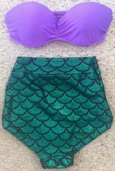 Shopaholic Mermaid Swimsuit Set Little Mermaid Swimsuit, Mermaid Bikini, The Little Mermaid, Ariel Swimsuit, Mermaid Suit, Mermaid Style, Mermaid Mermaid, Mermaid Beach, Mermaid Wedding