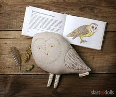 Owl. Designer hand-embroidered toy Slastidolls