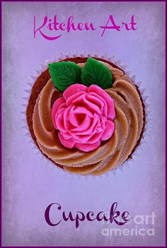 Cupcake by Clare Bevan  #cupcake #kitchenart #clarebevan