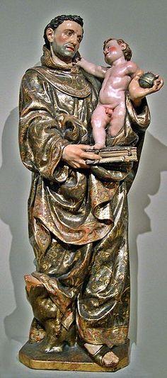 San Antonio de Padua, escultura en madera policromada, actualmente en el Museo Nacional de Escultura, en Valladolid, España. Autor: José-Manuel Benito Álvarez. José Armando Flores Vázquez