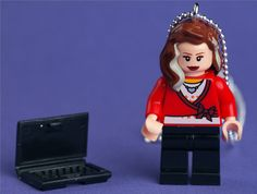 Caitlin Moran LEGO minifigure necklace on by weglet on Etsy