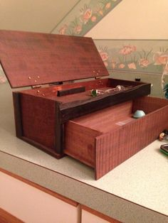 Walnut & Ebony Jewelry Box - Woodworking creation by ChurchillGuitars   WoodworkingWeb.com