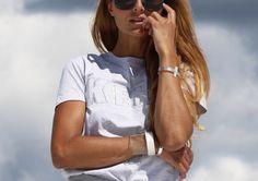 Cooee cuffs worn on blogger Camilla Abry