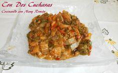 ConDosCucharas.com Acelgas con jamón y tomate - ConDosCucharas.com Meat, Chicken, Food, Recipes With Vegetables, Vegetables Garden, Fruit, Homemade, Essen, Meals