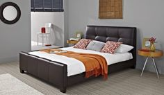 Bayview Faux Leather Bed Frame - Benson for Beds (FAVOURITE)