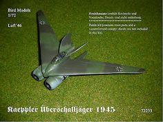 resin kit Messerschmitt Me 335 A-0       1//72 Bird Models Resinbausatz