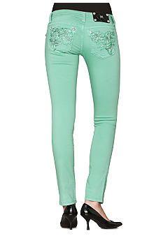 Miss Me Embellished Pocket Skinny Jeans #belk #color