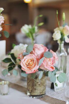 Pink Rose Centerpiece