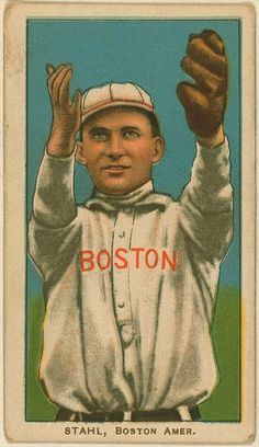 [Jake Stahl, Boston Red Sox, baseball card portrait]