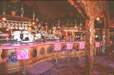 The ornate horsheoe coffee bar at the Madonna Inn.