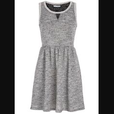 Maurices Gray Sleeveless French Terry Pocket Dress